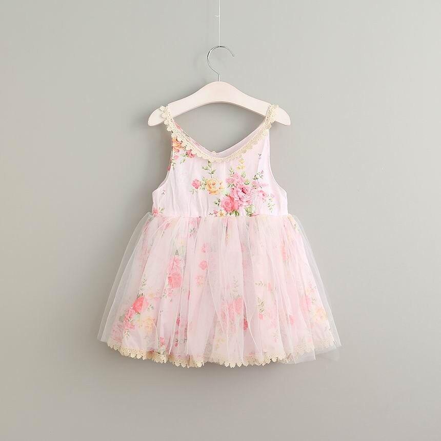 Лето 2017 г. девушка хлопок Кружево милое платье для маленьких девочек с цветами платье для девочек на день рождения элегантное милое платье д...