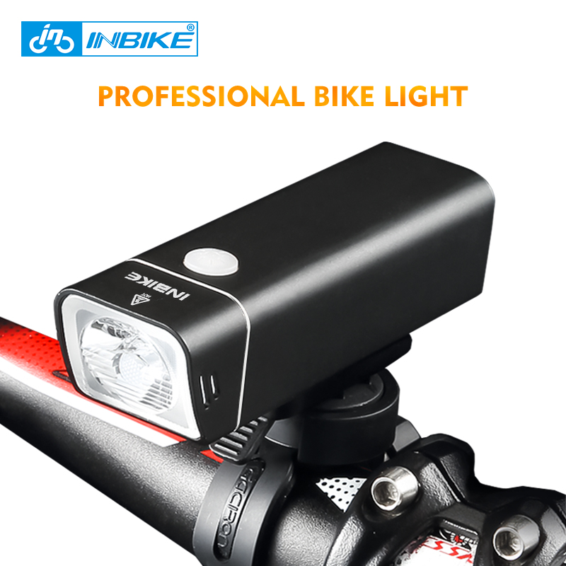 INBIKE Bicycle Light USB Rechargeable Bike Head Light Front Handlebar Waterproof Cycling Led Headlight MTB Road Bike Flashlight nitenumen 1800lumens bike front light cycling headlight bicycle rechargeable flashlight waterproof 6400mah led head lamp for mtb