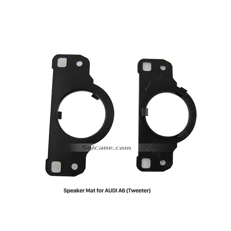 Seicane Audio Rings Adaptor Modified Pad Refires Accessories Black 2 PCs Tweeter Car Speaker Spacer for AUDI A6 Refit