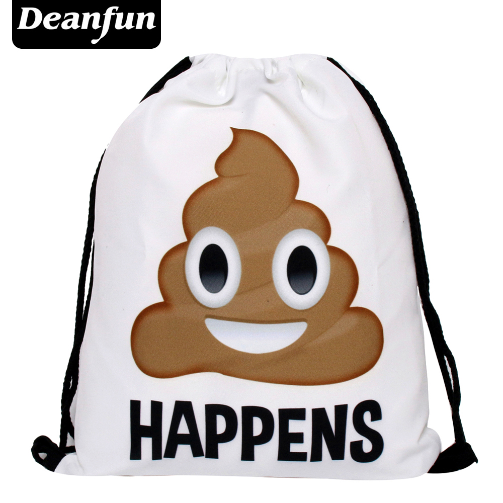 Deanfun Bag Ladies Emoji Backpack 2016 New Fashion Women Backpacks 3D Printing Bags Drawstring Bag For Men S21 2016 fashion women s backpack beige