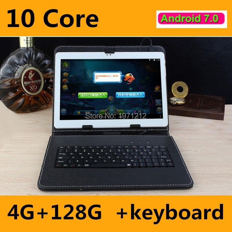 Livraison Gratuite 10 pouce tablet pc Deca 10 core MTK6797 3G 4G GPS Android 7.0 4 GB 64 GB/128 GB Double Caméra 8.0MP 1920*1200 IPS écran