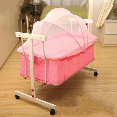 Baby cradle crib newborn small shaker can push baby crib basket basket car bed long sleep foldable crib baby crib bed shaker cradle baby bed bb summer appease hong shui bed