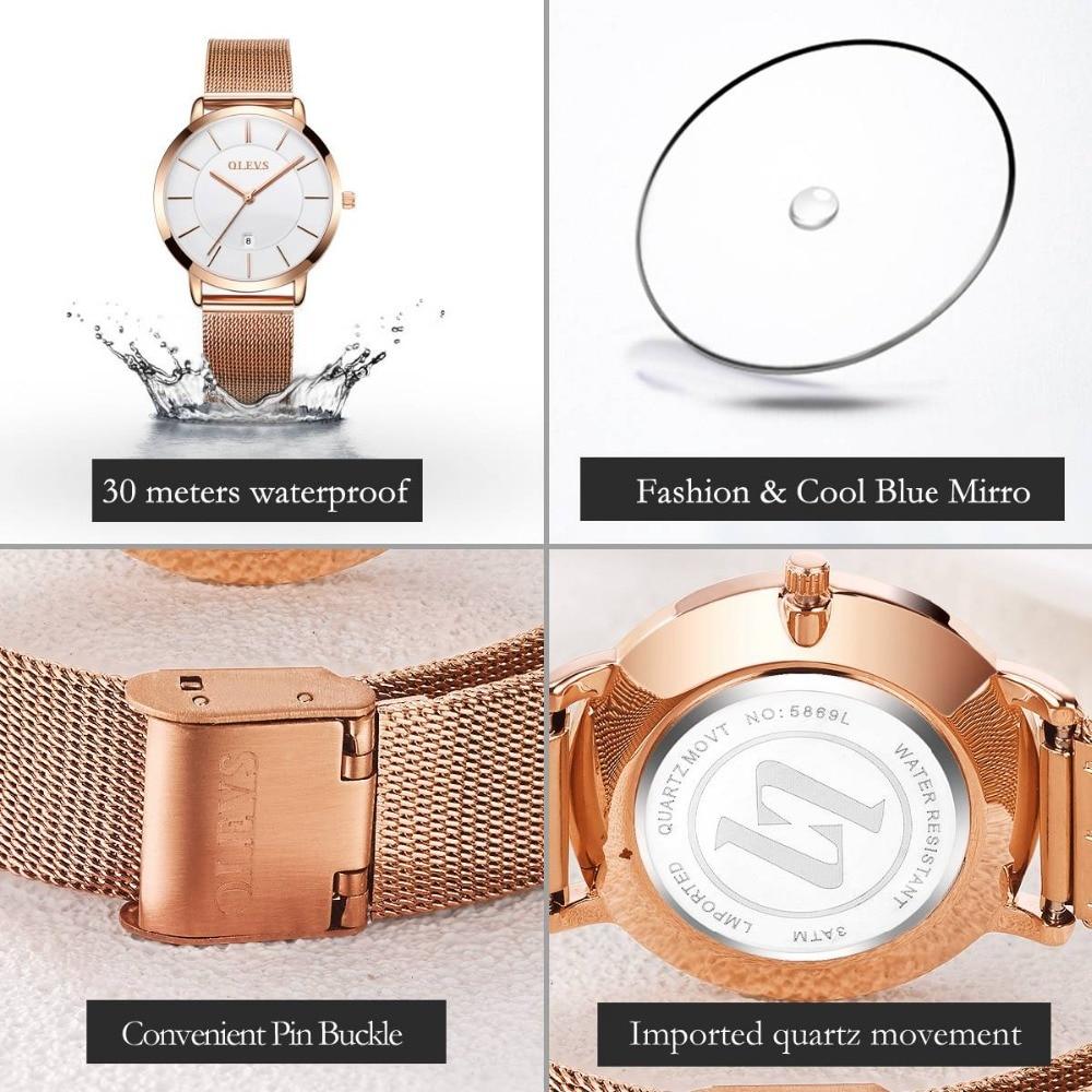 badb019676f ... Original Watch Women Gold Simple Stainless Steel Ultra Thin Quartz  Wrist Watch Water Resistant Watches Women s