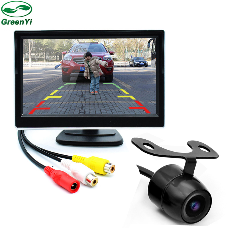 2in1 HD 5 Inch TFT Car Monitor With Rear View Camera