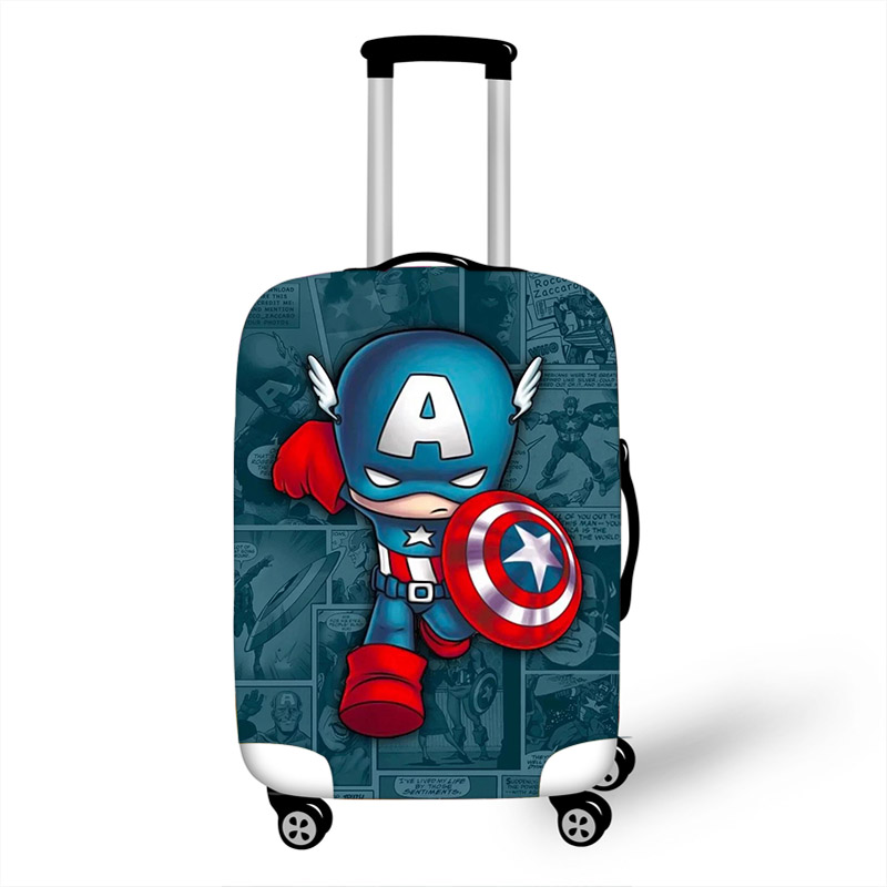 18-32 Avengers Captain America Elastic Luggage Protective Cover Trolley Suitcase Dust Bag Case Cartoon Travel Accessories18-32 Avengers Captain America Elastic Luggage Protective Cover Trolley Suitcase Dust Bag Case Cartoon Travel Accessories
