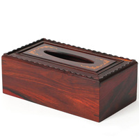 [TZ] Suanzhimu with vegetarian boxwood mahogany crafts box bat tissue box
