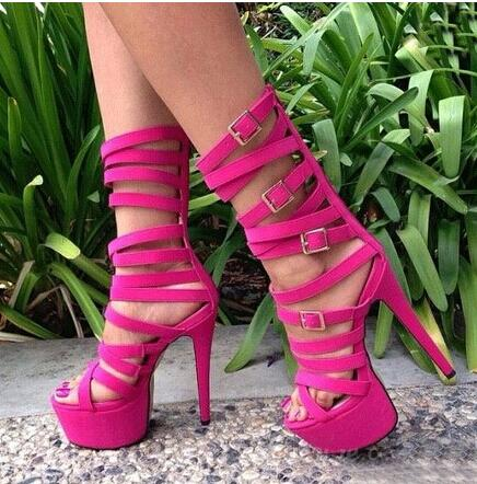 Newest 2017 Women Shoes Fashion Special New Arrivals Ankle Sexy Cut-Out Sandals Gladiator High Heel Cheap Price Buckle Platform new fashion women backpack newest