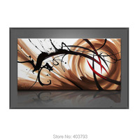 Oil Painting on Canvas Art Large Abstract Picture Wall Decor 24x48 (No Frame) For Living Room