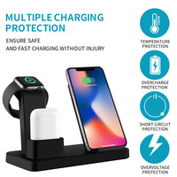 For apple watch charger series 4 3 In 1 wireless charging dock phone stand desk For IPhone XR X 8plus For apple airpods charger