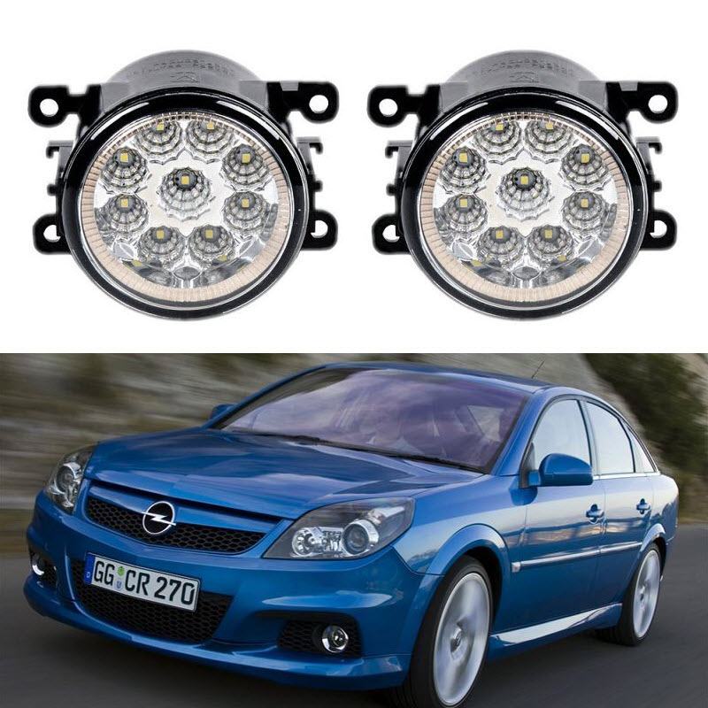 Car-Styling For Opel Vauxhall Vectra GTS Caravan OPC C 2005-2008 9-Pieces Led Fog Lights H11 H8 12V 55W Fog Head Lamp for opel astra h gtc 2005 15 h11 wiring harness sockets wire connector switch 2 fog lights drl front bumper 5d lens led lamp
