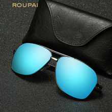Retro de aluminio de magnesio ROUPAI marca hombres gafas de sol lente  polarizada Vintage Eyewear accesorios gafas de sol para ho. 8ed58a46c3
