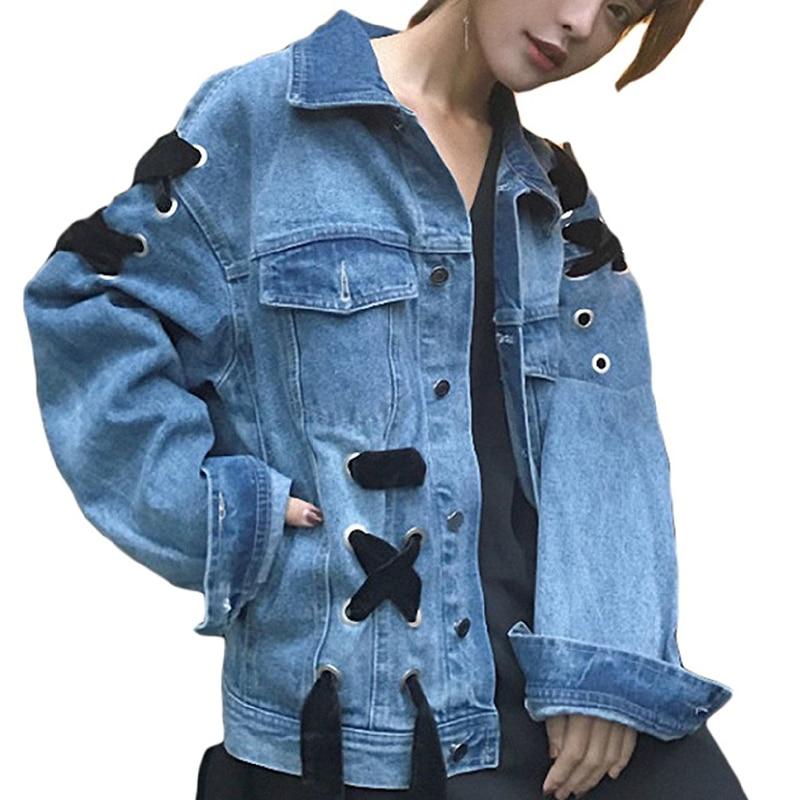 Ladies Denim   Jacket   Coat 2017 Fashion Women Autumn Winter Button   Basic     Jacket   Korea Style Loose Pocket Jean   Jacket   Outerwear