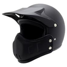 3/4 Vintage Motorcycle Helmet Full Face Multi Combined Cycling Motorbike Sale cascos para moto racer