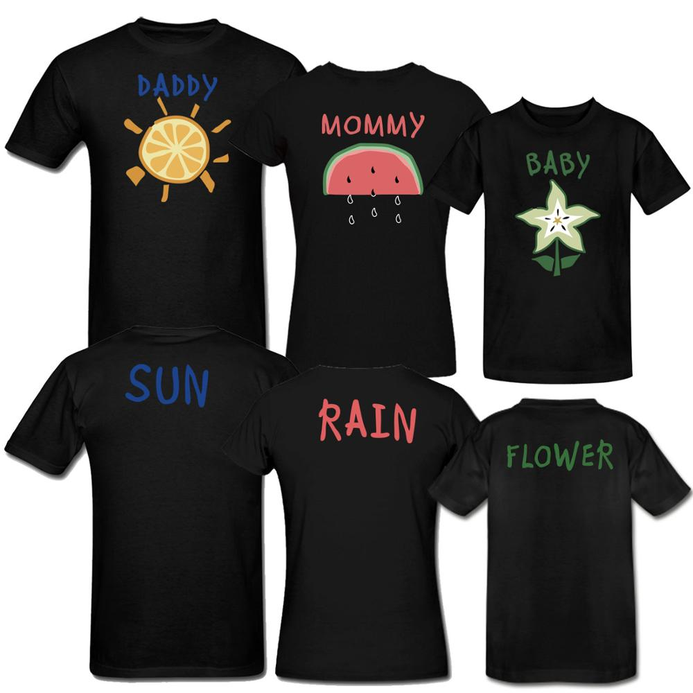 19e4d0f4f008 Custom Couple Family Tee Shirts Funny Design Daddy Mommy Baby Design Shirts  2 Side Printed Short Sleeve Top Tees Leave Size-in T-Shirts from Men's  Clothing ...