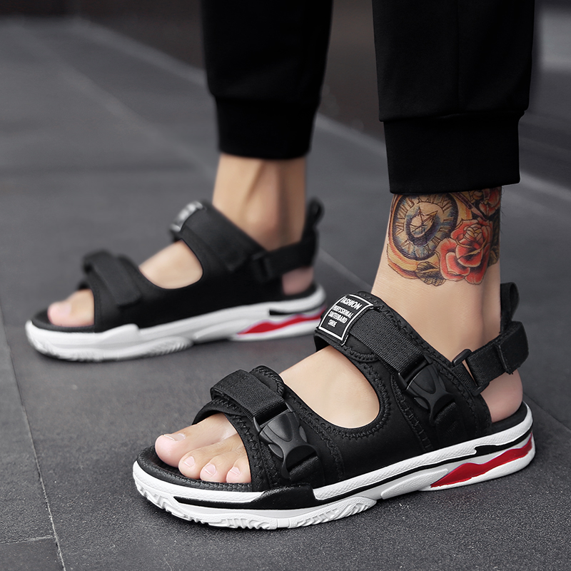 b4077854c85c13 Man Beach Sandals Summer Gladiator Men s Outdoor Shoes Roman Men ...