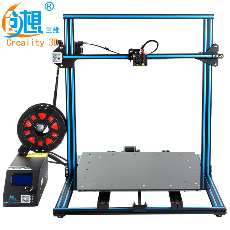 Precio loco CREALITY 3D FDM impresión CR-10 500*500*500mm Metal ranura en V marco 3D kit de impresora filamento impresora soporte