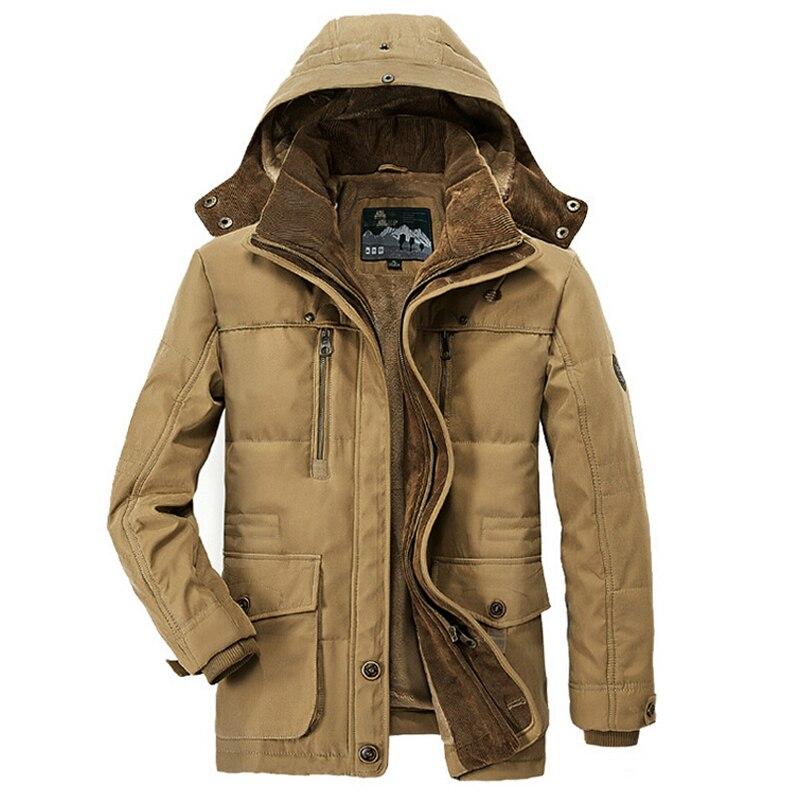 2019 Military Winter Jacke Männer Windjacke Dicke Warme Unten Mäntel Herren Outwear Parkas Jaqueta Masculino Militar Jacken Plus 4XL - 3