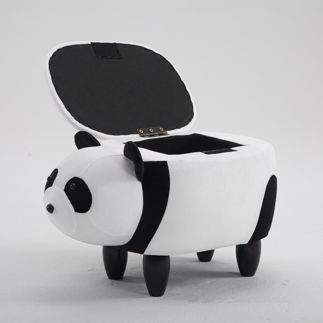 2018 New Cute Animal Stool Panda Ottoman Living Room Chair Children Furniture