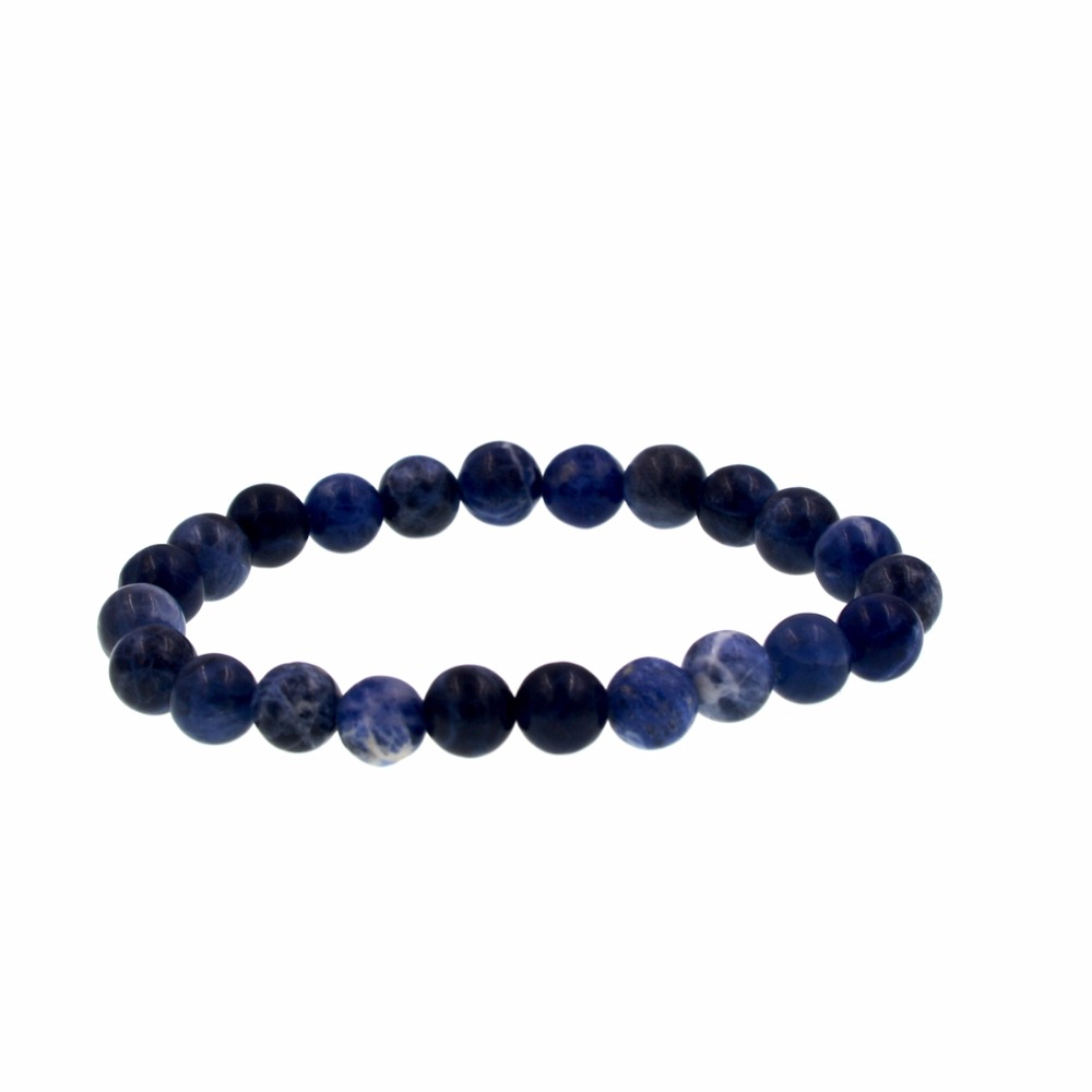 Lucky Chip Beads Blue Sodalite Stretch Bracelet 8 Inch Jewelry For Gift G664 Strand Bracelets