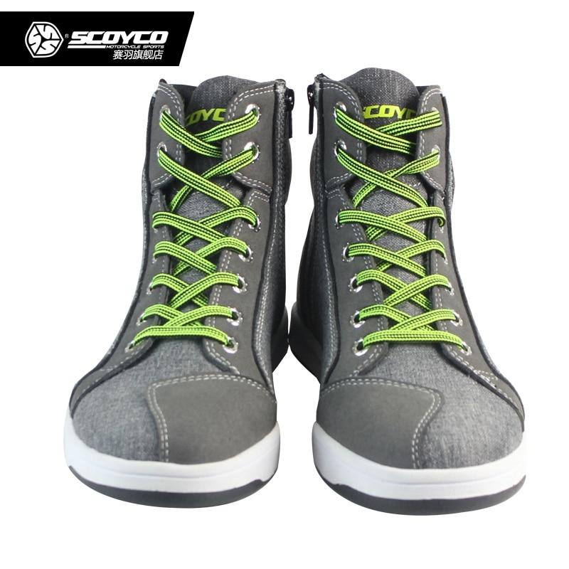 100% Original Scoyco Marke MT016 Motorrad Schuhe Sport Casual Stiefel Männer Motorrad Racing Botas Motocross Radfahren Stiefel