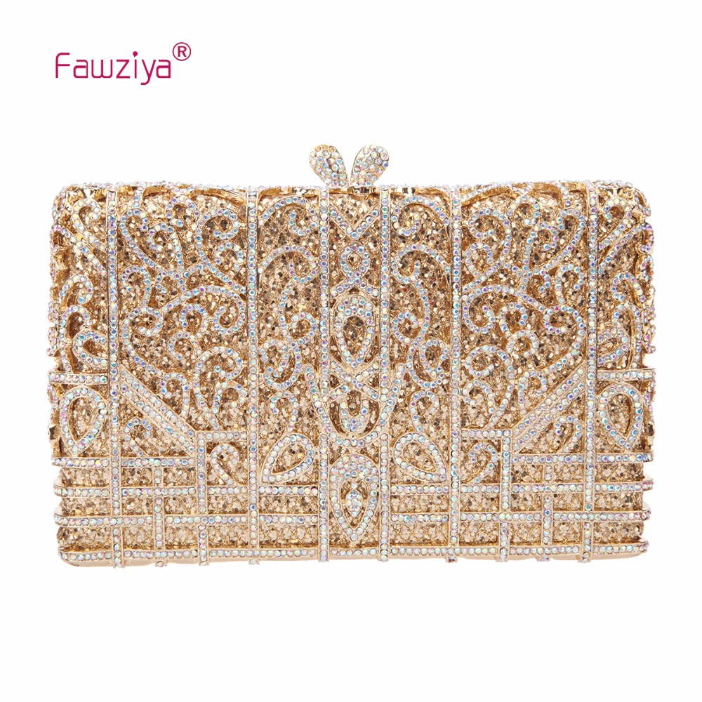 Fawziya Ladies Purses And Bags Rhinestone Clutch Purses For Women Bags And Clutches And Evening Bags