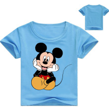 100% Cotton T Shirt Long Sleeve Spring Mouse Cartoon T shirts for Boys Girls Casual Tees Spring Autumn Children Kids Clothes