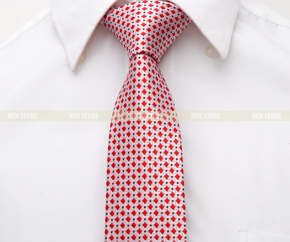 Red Pink Checkers Black Dot 100% Woven Silk 1200 Stitches 2.8\