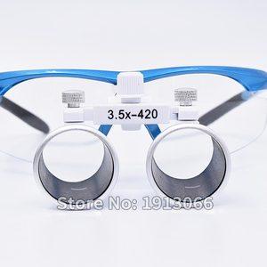 Image 2 - Hohe qualität 3,5 X420mm Tragbare Zahnarzt Chirurgische Medizinische Binocular Dental Lupe Optische Glas Für Dental Prüfungen