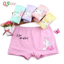 2020 venda quente 5 pçs/lote meninas roupa interior crianças calcinha do bebê unicórnio das crianças para 4-12 idades