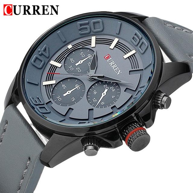 Relogio Masculino Curren assistir moda masculina de quartzo relógio de couro relógio para o homem de luxo marca couro correia relógios militar