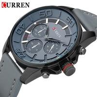 2015 New Fashion Curren Brand Vogue Business Watches Men Sports Watch Date Leather Strap Quartz Clock