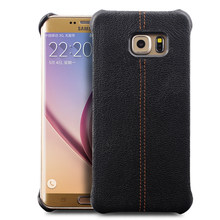 QIALINO Real Genuine Leather case for Samsung Galaxy S6 edge plus 5.7inch Elegant Styles Caif Skin Genuine Leather Back Cover(China)