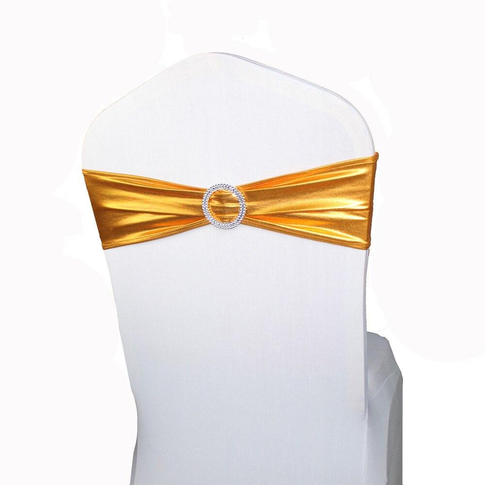 ขายส่ง 100 Gold เก้าอี้ Sashes แถบ Spandex Lycra เก้าอี้ Sash Bows สำหรับงานแต่งงานหน้าแรกตกแต่งเก้าอี้ Metallic Gold สี-ใน กรอบหน้าต่าง จาก บ้านและสวน บน AliExpress - 11.11_สิบเอ็ด สิบเอ็ดวันคนโสด 1