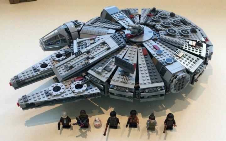 05007 Star Wars Millennium Falcon Figure Toys building blocks marvel minifigures Kids Toy Compatible with lego