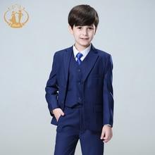Nimble Blue boys suits for weddings kids Blazer Suit for boy costume enfant garcon mariage jogging garcon blazer boys tuxedo