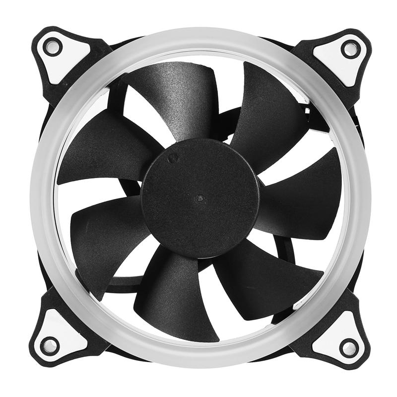 3pcs 12V 120mm Computer Case PC Cooling Fan RGB Adjustable LED Quiet + IR Remote New Silent fan Cooling Cooler Fan For CPU