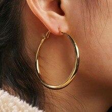 Yobest, панк, большие размеры, серьги-кольца, модные, вечерние, Преувеличенные, золотой, серебряный цвет, круглые серьги для женщин, ювелирное изделие