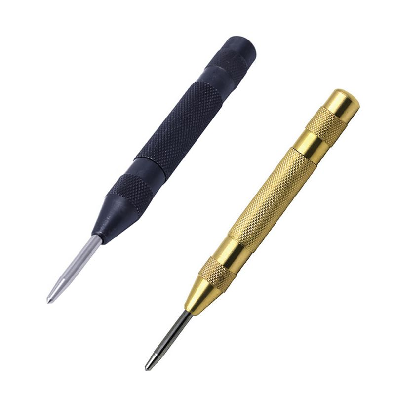 Heavy Duty Automatic Centre Punch Spring Drill Bit Loaded Metal Wood Press Dent Marker 1567 5 inch automatic center pin punch spring loaded marking starting holes tool alloy automatic centre punch ng4s