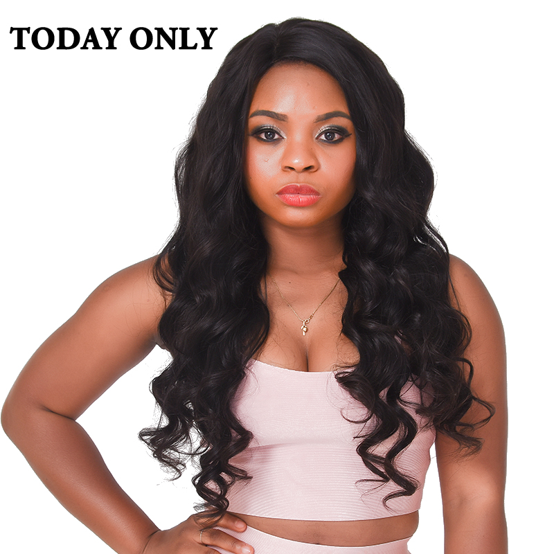 Today Only Brazilian Body Wave font b Hair b font Bundles Non remy font b Human