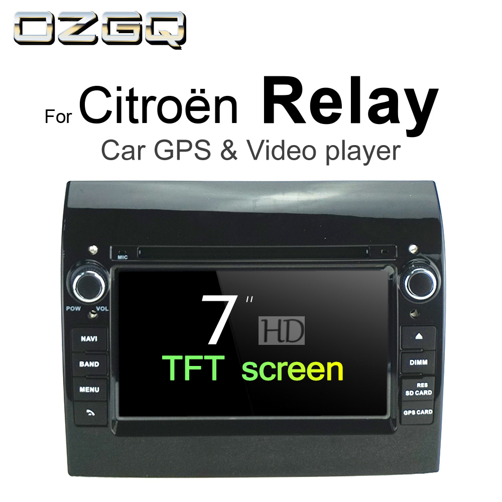 OZGQ Android 7.1 Car DVD Player For Citroen Relay 2006-2018 HD Screen Auto GPS Navigation BT Radio TV Audio Video Music Stereo