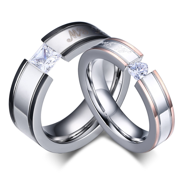 New My Love Wedding Ring Clic Engagement Women Aaa Cz Rings For Men Jewelry