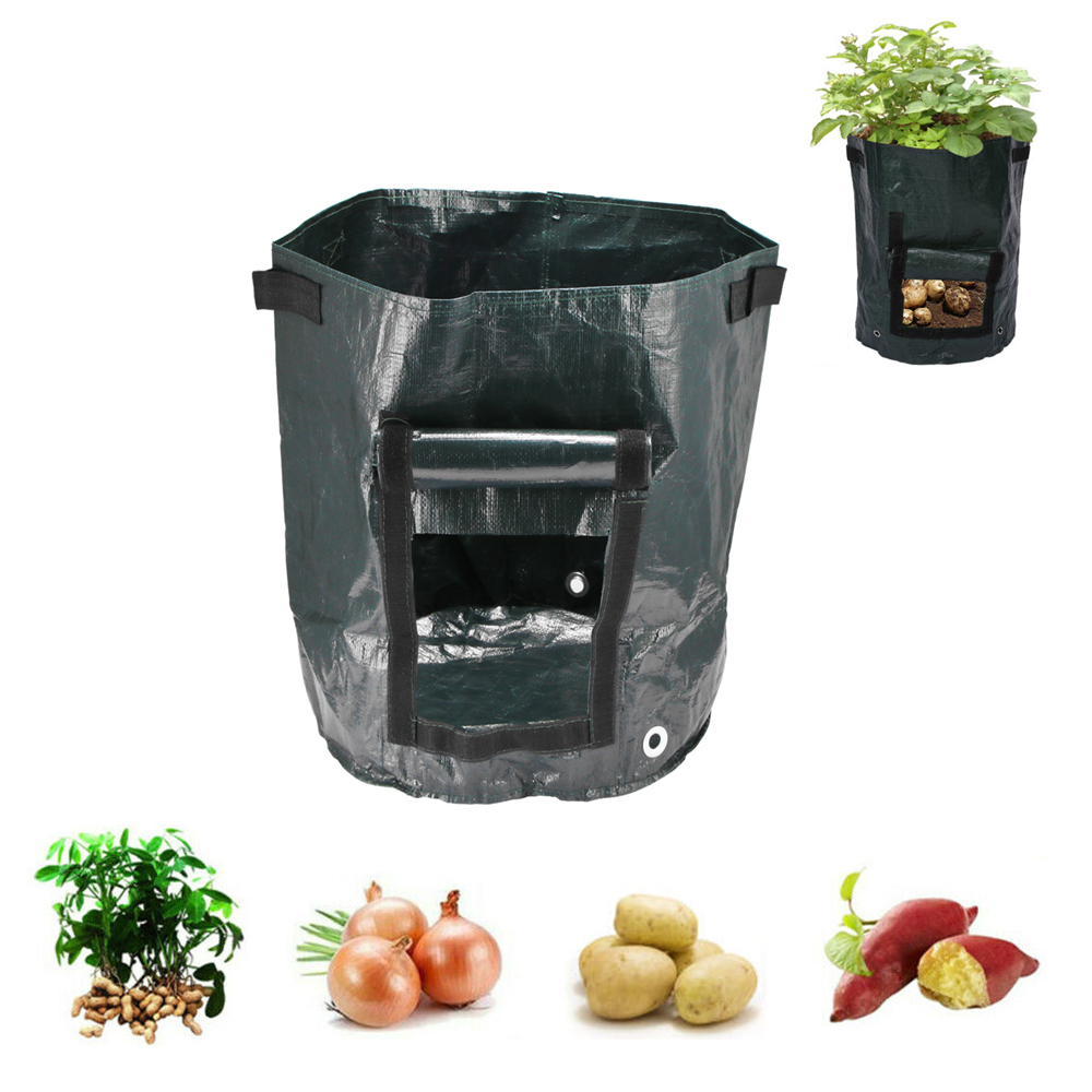 1/24Pcs Grow Bags Potato Cultivation Planting Woven Fabric Bag Garden Pots Planters Vegetable Planting Bags Home Garden Tool