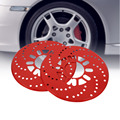 1 Set Auto Aluminium Disc Brake Rotor Trim Decorative Covers Retrofit 26cm Red
