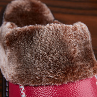 Mntrerm Winter Men's Slippers Genuine Leather Home Indoor Non-Slip Thermal Shoes Men 2018 New Warm Winter Slippers Plus Size 3