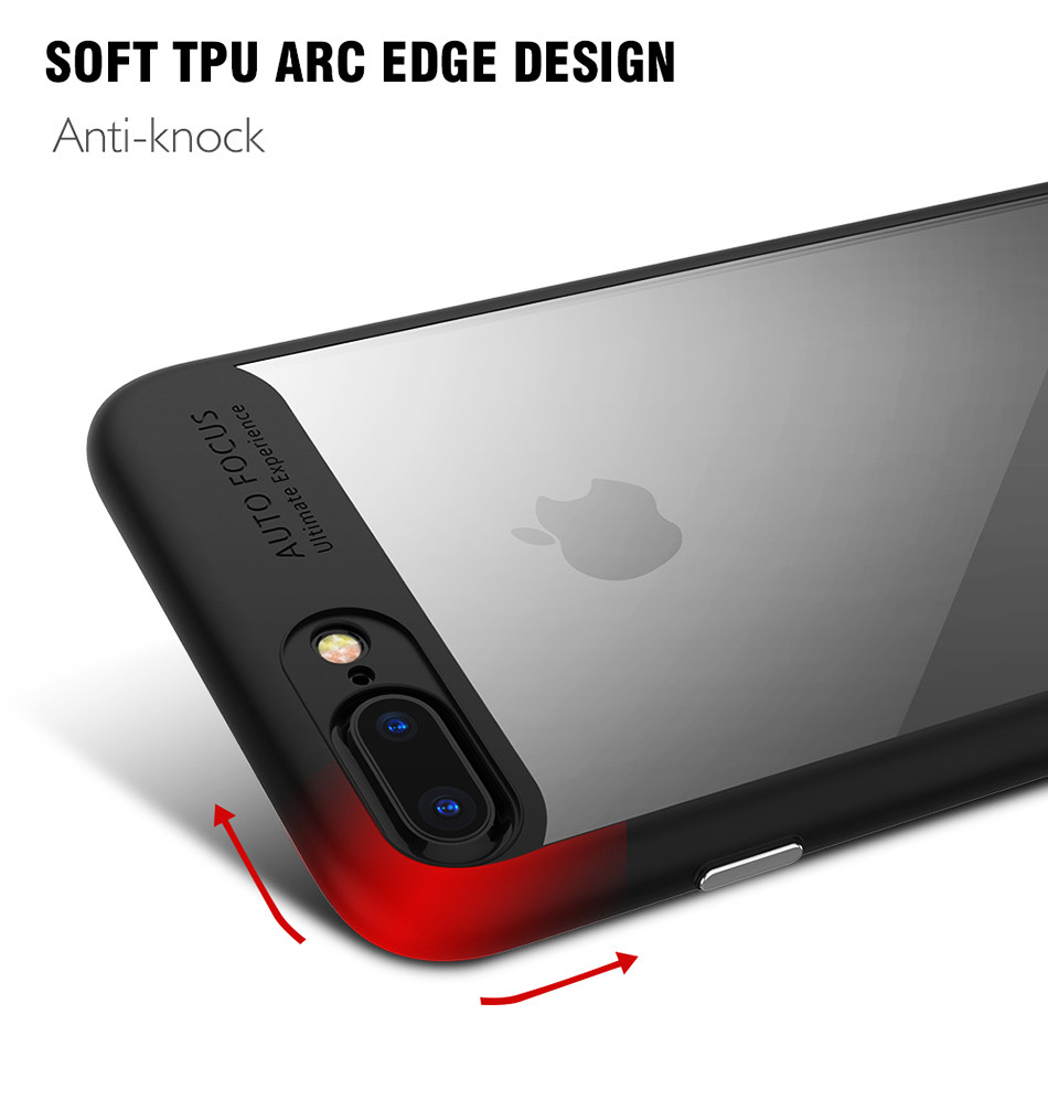 Ultra Thin Phone Case For iPhone 7 6S 6 Plus High Clear Acrylic Soft TPU YYF (11)