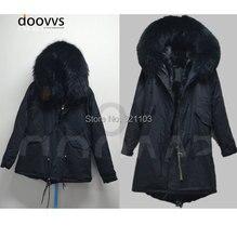 winter Women Long Coat Overcoat Cloak Topcoat Windbreaker / Trench Coat,black big fur collar fur Coat / long parka