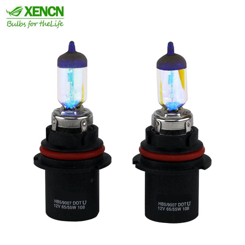 XENCN HB5 9007 All Season Super Yellow bright Light Car Bulbs Germany Quality DOT Halogen Head lamp 12V 65/55W 2300K лампа hb5 9007 65 55 px29t 12v silvania
