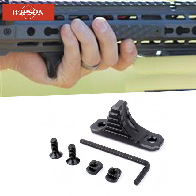 WIPSON M-LOK Handstop Kit Angeled Foregrip Accessories with Guide Rail Tactical Handguard for AR15 Gun Accessories