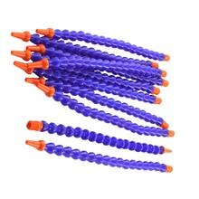 Home Improvement - Plumbing - WSFS Hot 10PCS Round Nozzle 1/4PT Flexible Oil Coolant Pipe Hose Blue Orange