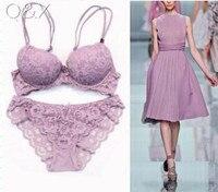 c9876734fe BS12 2017 New Women s Underwear Sets Cute Beautiful Flowers Embroidery Lace  Bra Set Sexy VS Push